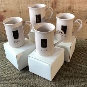 "💕 Set of 4 Mary Kay ""Elige"" Mugs 💕 NWT"